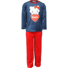 velours enfants vêtements de nuit Lot pyjamas fille Charmmy Kitty Bleu 98 104