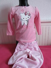 velours enfants vêtements de nuit Lot pyjamas fille Charmmy Kitty Rose 98 104