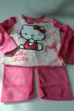 velours enfants vêtements de nuit Lot pyjamas fille Hello Kitty Rose 104 - 140