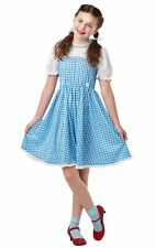 Child Dorothy Wizard of Oz Girls Costume Toto Witch Ruby Slippers Blue