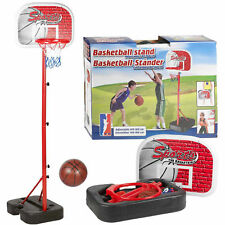 Portable Basketball Stand Hoop Backboard Free Standing Children Kids Pump Ball