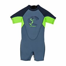O Neill 2mm Toddler Reactor Back Zip Shorty Surf Gear Wetsuit - Dusty Blue/ Day
