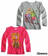 NEUF pull pullover Maillot Manches Longues Disney Die Muppets Gris Rose 104 116