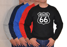 ROUTE 66, Grande Logo, USA,The Mother STRADA, Felpa, Unisex