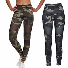 Urban Classics Ladies - TECH MESH Fitness Leggings tarn camo