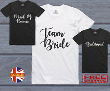 Ladies Team Bride To Be Tribe Hen Do Night Party Bridesmaid Printed T-Shirt Top