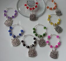 Happy Birthday Wine Glass Charms x 1, 4, 6 or 8 + Free Gift Bag