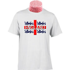 FOUR LIONS ON MY SHIRT England St Georges Cross Flag Football Gift T Shirt