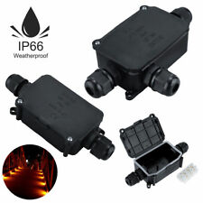 Packs 2 3 Way Outdoor Waterproof IP66 Cable Connector Junction Box 240v UK Mains