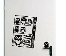 Designer - Cute Owl Set - Lovable Wall Stickers Vinyl Decal. Many colours. New.