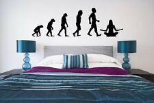 Evolution - Joga / Meditation - Amazing Vinyl Wall Stickers. Many colours. New.