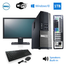 Dell Gaming PC Nvidia GT 1030 2G Speakers | Monitor | WiFi | 8GB | 1TB | 3.3GHz