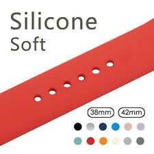Silicone Sport Band For 38mm Apple Watch Series1 2 3 42mm Wrist Bracelet Strap