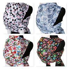 NEW BABY WRAP SLING 4.5M SZ 6 WOVEN 100%COTTON WRAP CARRIER MANY SPRING COLOURS
