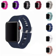 Apple Watch Band 38mm Replacement Sports Soft Silicone Strap Bracelet For iWatch