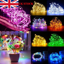 20/50/100 LED Micro Battery Wire Silver Fairy String Lights Wedding Xmas Decorat