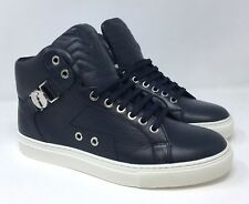 Christmas Offer VERSACE Buckle High Top Sneaker V900598 Shoes-Blue/White RRP£290