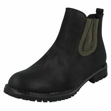 Down To Earth F5R0566 Mujer Negro Botines UK 4-7 (R41A) ( J&k )
