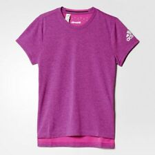 girls adidas t-shirt Climachill training tee shock pink matte silver