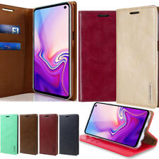 For Samsung Galaxy S10,S10+ E Vintage Flip leather wallet Case Stand Folio Cover