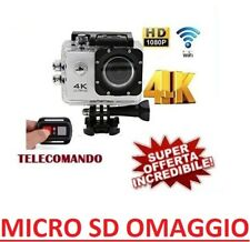 4K ULTRA HD WiFi SPORT ACTION CAMERA 16MP VIDEOCAMERA SUBACQUEA PRO SD OMAGGIO