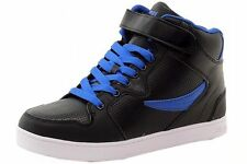 NEW 2017 MEN'S FILA SOFICO 2 BLACK BLUE HIGH TOP SNEAKERS ANKLE STRAP SNEAKERS