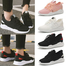 Womens Chunky Trainers Solid Athletic Solid Sneakers Running Mesh Lace Up Shoes