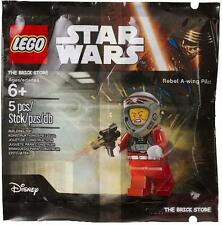 LEGO STAR WARS - REBEL A-WING PILOT POLYBAG FIGURE + FREE GIFT - RARE - SEALED
