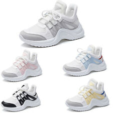 Womens Trainer Breathable Sneakers Casual Sport Lace Up  Flatform Mesh Dad Shoes