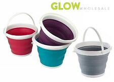 COMPACT 10L COLLAPSIBLE BUCKET KITCHEN BATHROOM GARDEN CAMPING SAVE SPACE WATER