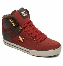 DC Shoes Men's Spartan High WC WNT Sneaker Shoes Maroon Kicks Trainers Clothing