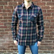 New Ladies Womens Dark Blue Tartan Check Plaid Long Sleeve Loose Shirt Blouse