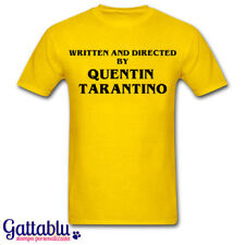 T-shirt uomo Written and Directed by Quentin Tarantino, personalizzabile!