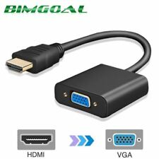 HDMI To VGA Cable Video Converter Audio Adapter For PC HDTV 1080P Signal HD New