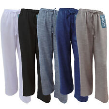 Womens Ladies New Saloos Trousers Linen Look Elasticated Multicolour Size 12-22