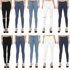 NEW WOMENS SKINNY JEANS RIPPED LADIES JEGGINGS SIZES 6 8 10 12 14 16 18