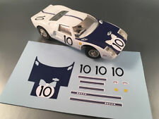 STICKERS POUR FORD GT40 JOUEF 1/40 REF GT40#10 (NO DECAL IDEAL SLOT)