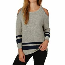 Rvca Marked Femme Pull Sweater - Heather Grey Toutes Tailles