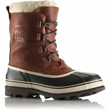 Sorel Caribou Wool Faux Fur Mens Boots - Tobacco All Sizes