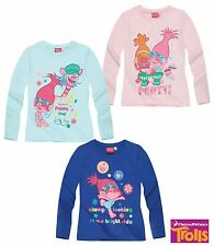 Pull Pullover Maillot Manches Longues Die Trolls Bleu Turquoise Rose 104 116 128