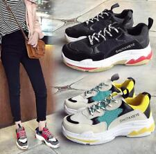 2018 Womens Fashion Chunky Trainer Breathable Sneakers Casual Athletic Dad Shoes