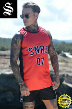 SINNERS Red Basketball Vest - Sinners Attire Gym Muscle IBIZA Vest