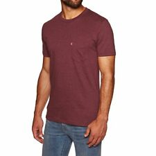 Levis Set-in Sunset Pocket Mens T-shirt - Fig Purple Heather All Sizes