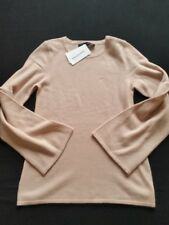 Hallhuber Pullover Lana/Cashmere Rosa TG. XS, XL Nuovo