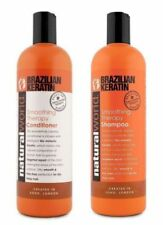 Natural World Brasiliana Cheratina Emolliente Terapia Shampoo/Balsamo 500ml