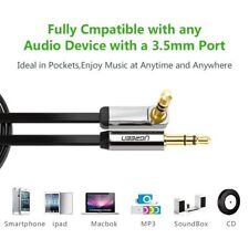 Ugreen 3.5mm Jack Audio Lead Aux Cable 90 Degree Right Angle for iPhone MP4 UK