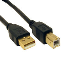 GOLD USB 2.0 High Speed Printer Lead USB2.0 Type A to Type B Male Cable 1m to 5m