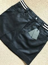 "ALL SAINTS WOMEN'S BLACK ""HOLBECK RIB"" LEATHER SKIRT - UK 4 & 14 - NEW & TAGS"