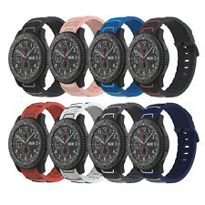Silicone Bracelet Strap Watch Band For Samsung Gear S3 Frontier/Classic Fossil Q