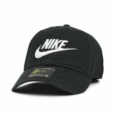 26c585c4 Nike Heritage 86 Futura Adjustable Cap Hat Black/White Logo 626305 012 One  Size